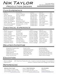 Film & Theatre Resume. Nik Taylor .