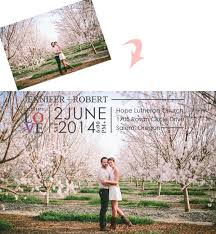 10 great customized photo wedding invitation ideas Wedding Invitation Photography Ideas spring sakura wedding engagement photo wedding invitation ideas 2014 wedding invitation photo ideas