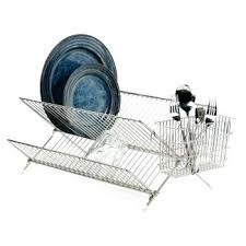 Dish Drying Rack Walmart Extraordinary Stainless Dish Rack Folding Stainless Steel Dish Drying Rack
