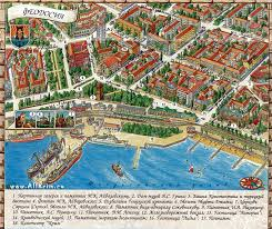 Карта Феодосии Карта окрестностей Феодосии Карта центра города  Карта Феодосии Карта центра города