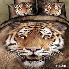 tiger bedding sets bedspread duvet quilt cover cal king size queen animal print fitted cotton bed tiger eye comforter set