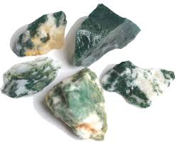 moss agate as the name suggests this type of green and white agate looks like it has moss growing inside of the stone moss agate can be found in a