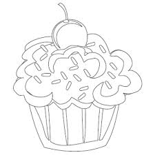 Cute Cupcakes Coloring Page Cupcake Coloring