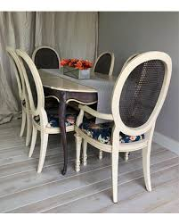 french country dining room painted furniture. Farmhouse Dining Set Painted Furniture French Country Table Room Upholstered Chairs Vintage D