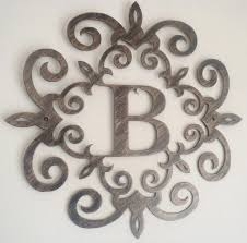 image of b large metal letters for wall decor metal monogram letters wall art decorative metal letters wall art metal letter w wall art 899x890