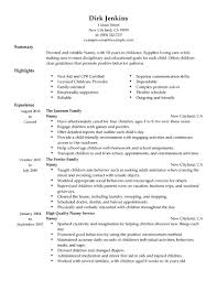 cover letter professional nanny resume sample sample of cover letter nanny resume skills nanny example sample babysitting personal care services traditionalprofessional nanny resume sample