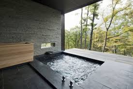 outdoor japanese soaking tub. japanese soaking tub with view of forest gardenista outdoor j