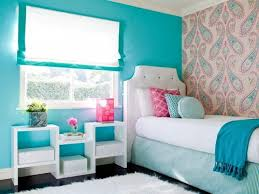creative painting ideas for teenage girls room designed with blue wall color style combined with vintage blue vintage style bedroom