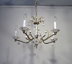 antique vintage bronze chandelier 22kgold porcelain italian flower light fixture