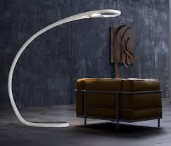 Floor-standing lamp / original design / polyurethane / arc ...