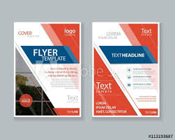 Two Page Brochure Template Two Page Brochure Flyer Report Layout Design Template And Cover