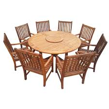 classic vintage round dining table in teak