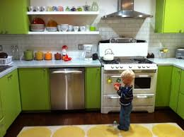 colors green kitchen ideas. Color Green Kitchen Cabinets Design Ideas With Stove Backsplash Brick Yellow Rug Colors S