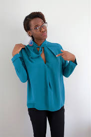 Pussy Bow Blouse McCall s 7436 Judith Dee s World