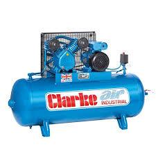 compresor industrial. clarke xev16/150 electric powered industrial air compressor (o/l) 150l 3.0hp 240v~50hz compresor