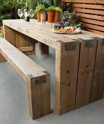 best wood to make furniture. DIY Wooden Outdoor Table And Benches - 10 Projects To Embellish Your Backyard For Which Type Of Cedar Is Best Making Garden Furniture Wood Make T
