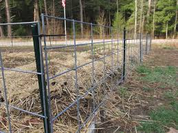 wire farm fence. Fencing With Cattle Panels Wire Farm Fence