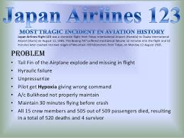 Image result for 1985 – Japan Airlines Flight 123
