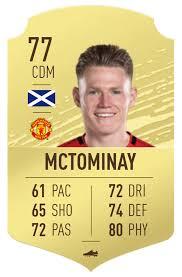 Mctominay para central una bestia si ganara pero eso no pasará, ganará el liverpool seguramente, entonces una mierda. Every Manchester United Player S Fifa 20 Ultimate Team Card Manchester Evening News