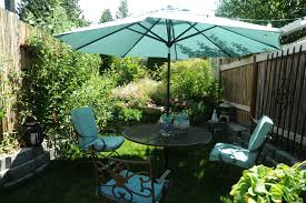 patio furniture decorating ideas. patio dining area with large umbrella furniture decorating ideas