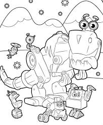 Robot coloring pages for kids. 20 Printable Rusty Rivets Coloring Pages