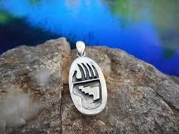 kjwp318 sterling silver bear claw pendant