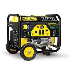 portable generators. Image Champion 5500 Watt Dual Fuel RV Ready Portable Generator With Wheel Kit. To Enlarge . Generators