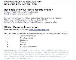 Usajobs Resume Help Resume Example