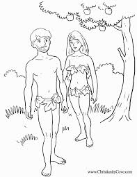 Adam And Eve Bible Coloring Pages Printable Gallery For