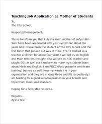Application For Teaching Job 52 Application Letter Examples Samples Pdf Doc Examples