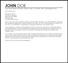 Coach Cover Letter | Resume CV Cover Letter