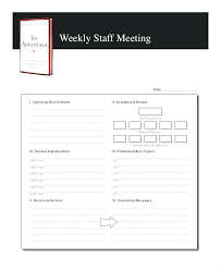 The Advantage Weekly Staff Meeting Agenda Sample Format Template