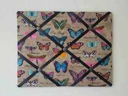 Butterfly Memo Board Fascinating Butterfly French Memo Board Butterfly Fabric Ribbon Board Tan