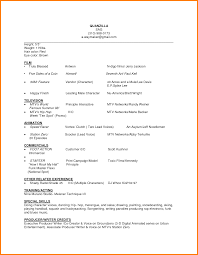Awesome Collection Of Acting Resume Sample Beginner O For Beginner