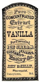 Vintage Clip Art Apothecary Label Vanilla Extract Vintage