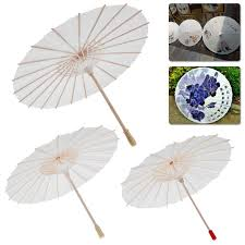 details about chinese retro mini paper umbrella white parasol kids painting diy toy gift top