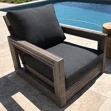 ventura teak patio chair with cushion