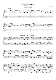 megalovania trumpet sheet music megalovania undertale musescore ut song pinterest sheet