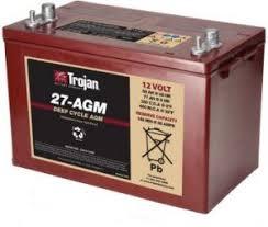 Deep Cycle Marine Battery Group Size Chart Trojan 27 Agm 12 Volt 89 Ah Deep Cycle Agm Battery