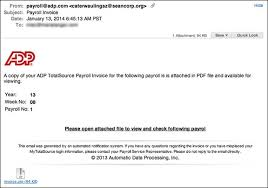 Mind An Invoice Eclectic Scam Payroll Adp