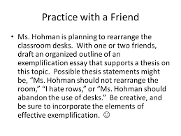 exemplification a mode ppt  11 practice