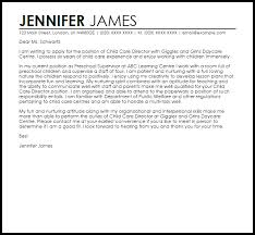 Child Care Letter Template Child Care Director Cover Letter Sample Cover Letter Templates