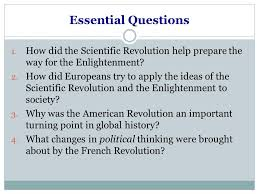 scientific revolution and enlightenment essay questions coursework  scientific revolution and enlightenment essay questions cheap custom made essays enlightenment essays the scientific revolution