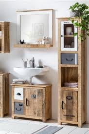 Badezimmer Ideen Badmöbel Badschrank Badhochschrank Holz