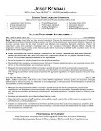 Leadership Qualities Resume Leadership Examples For Resume Free Letter Templates