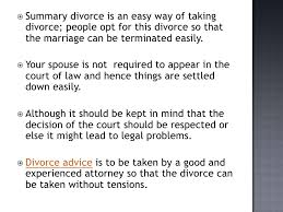what is summary divorce  3