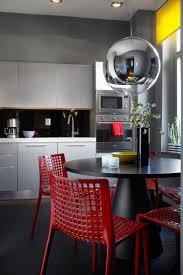 Cuisine Noir Rouge Et Gris Cuisine Blanche Et Rouge Beau Deco