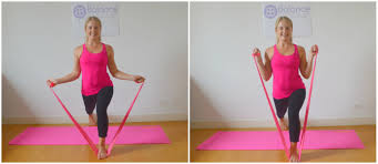 pilates resistance band workout bicep curl collage