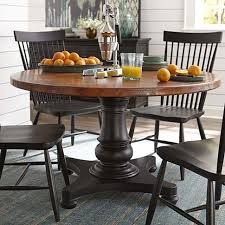 54 round copper dining table by bett furniture customize your table with multiple base styles in your choice of finish along with the copper top