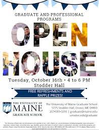 Graduate School Open House Graduate School University Of Maine